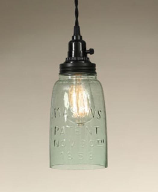 PRIMITIVE HALF GALLON RUSTIC OPEN BOTTOM MASON Jar HANGING PENDANT LAMP LIGHT in Home & Garden, Lamps, Lighting & Ceiling Fans, Chandeliers & Ceiling Fixtures   eBay