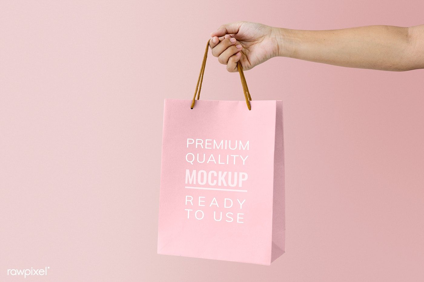 Download Download Premium Psd Of Woman Holding A Pink Paper Bag Mockup 894848 Bag Mockup Paper Bag Design Paper Bag