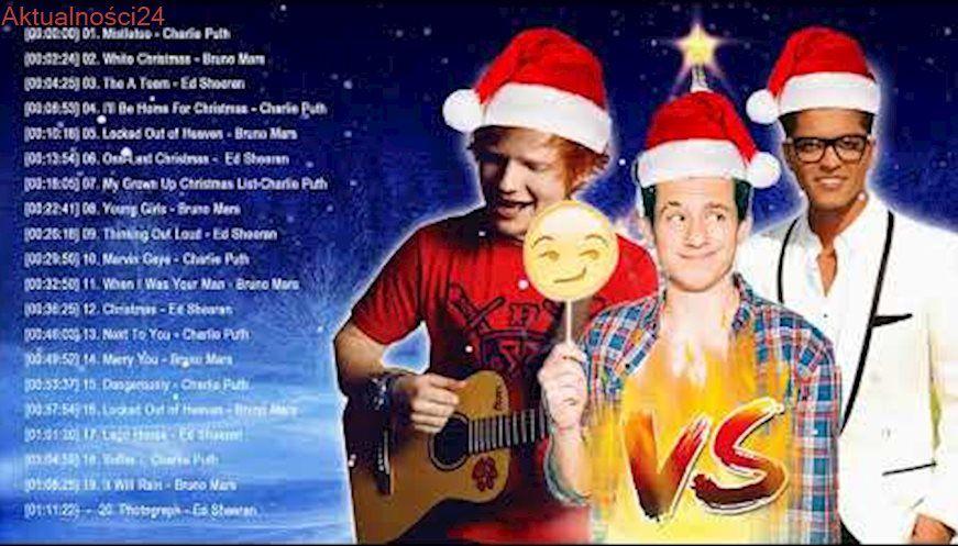 bruno marscharlie puthed sheeran best christmas songsgreatest hits pop playlist - Best Christmas Pop Songs