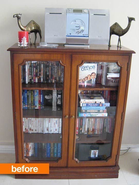 Before & After: DVD Cabinet, Take 2
