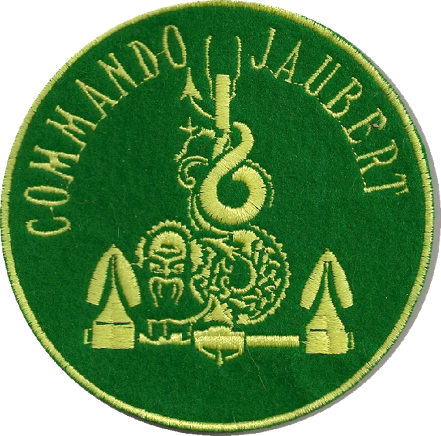 Patch insignia Commando jaubert 100mm