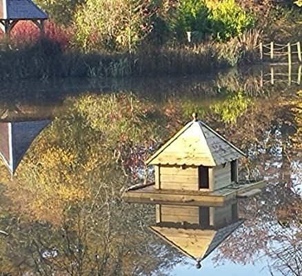 Indian Runner Floating Duck House waterfowl raft pontoon for pond from Buttercup Farm