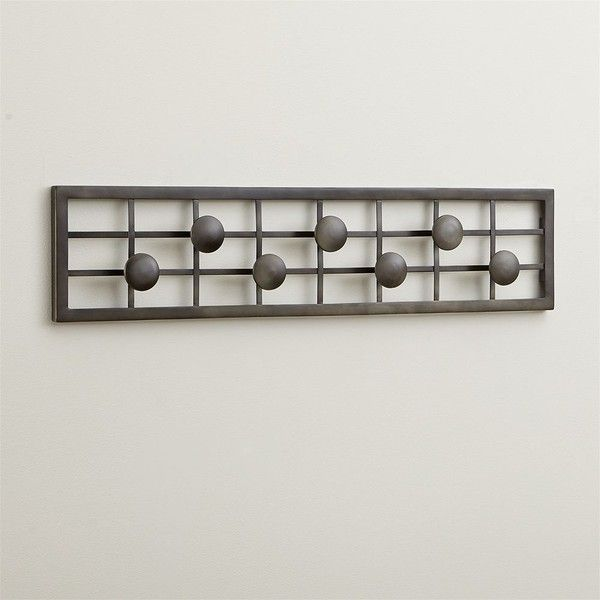 Crate Barrel Grid Wall Mounted Coat Rack 40 Liked On Interesting Crate And Barrel Wall Mounted Coat Rack