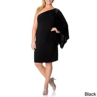 R & M Richards Plus Size One Shoulder Embellished Dress | Overstock.com Shopping - The Best Deals on Dresses