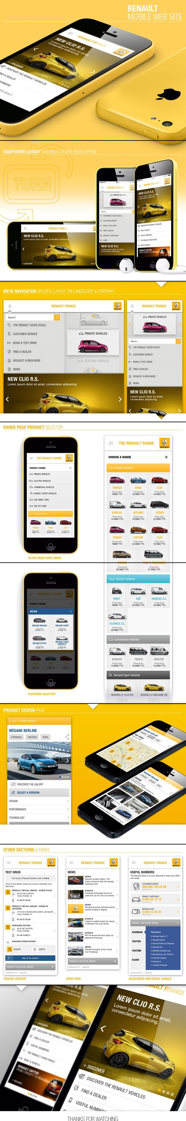 Renault Mobile Site