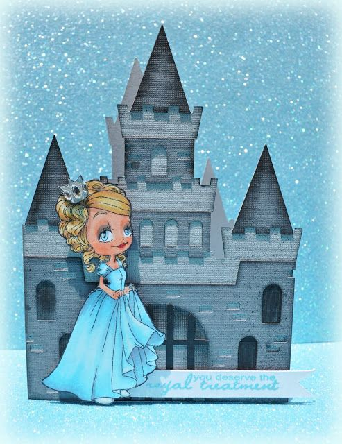 Cinderella and her castle.