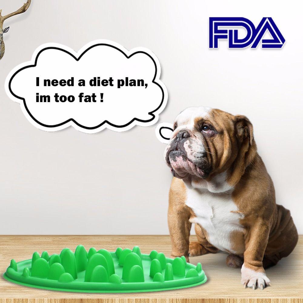 1 Pcs Anjing Pengumpan Lambat Makanan Mangkuk Makan Hewan