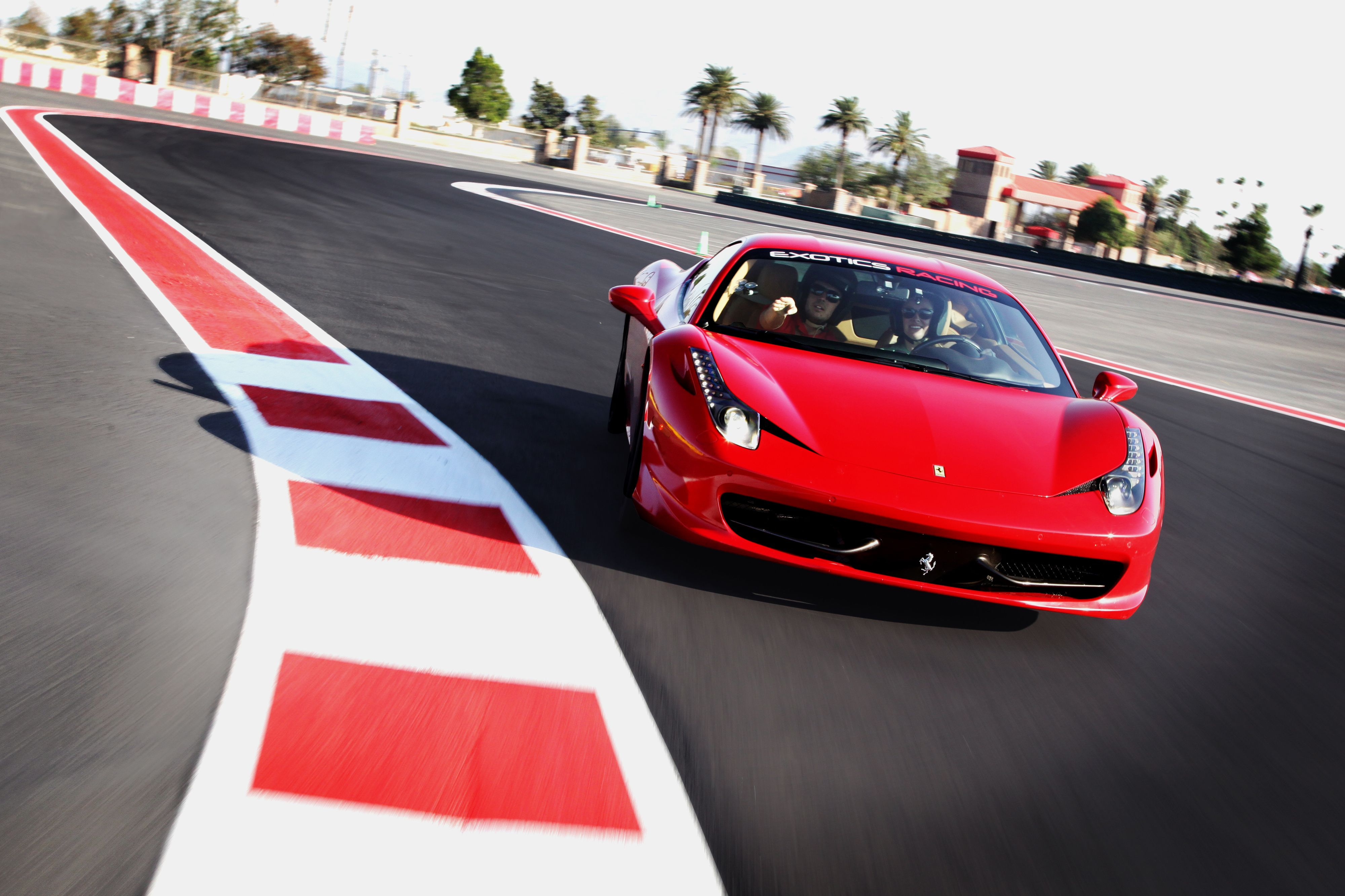 Exotics Racing Opens New 1 2 Mile Racetrack At Auto Club Speedway Race Track Racing Supercar Driving Experience