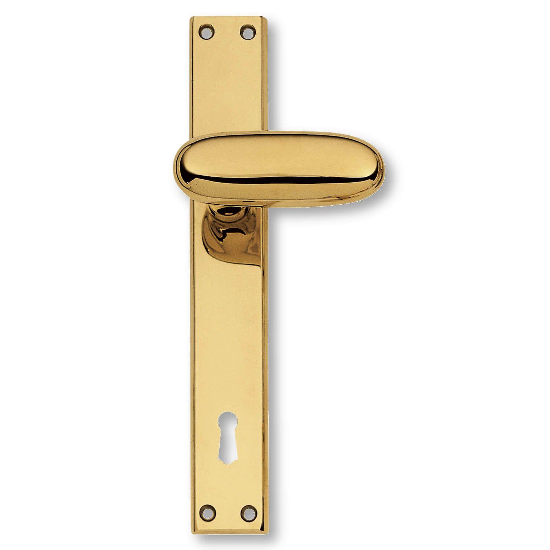 Door handle interior, Brass, Back plate - 1930 - C09210 - Italian ...