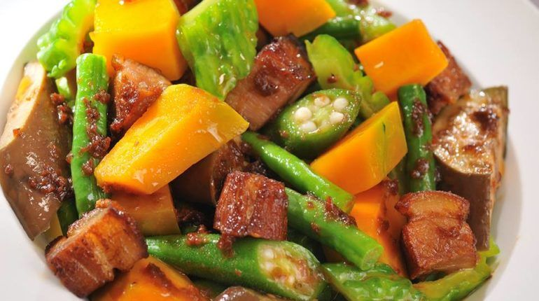 Filipino Dishes Pinakbet Pinakbet Recipe Vegetable Recipes Mix Vegetable Recipe