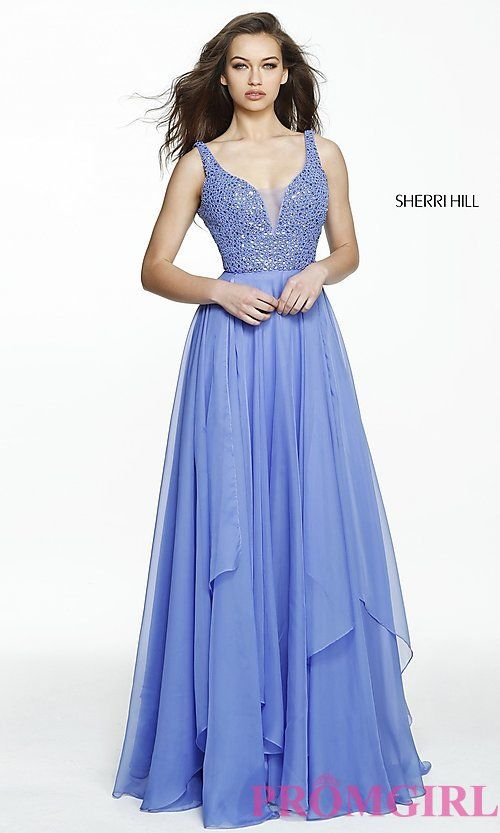 Celebrity Prom Dresses, Sexy Evening Gowns - PromGirl: SH-50801 · Sherri  Hill ...