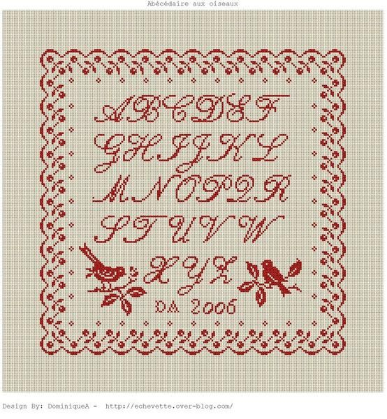 Alphabet point de croix cross stitch blog - Grille points comptes gratuites ...