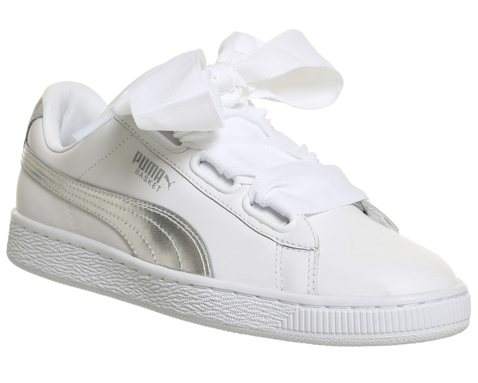 Basket Heart Trainers | Sneakers, Puma basket heart, White