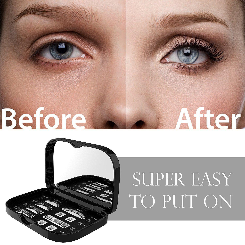Magnetic False Eyelashes Free Mirror Full Eye Kit Natural Length Magnet Lashes Dual Magnets Fake Lashes S Fake Lashes False Eyelashes Exposed Skin Care