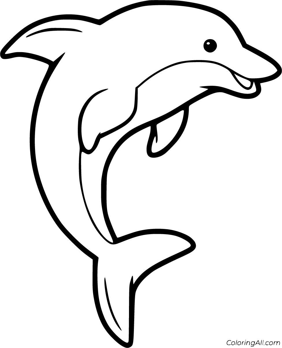 60 Free Printable Dolphin Coloring Pages In Vector Format Easy To Print From Any Device And Dolphin Coloring Pages Coloring Pages Nature Ocean Coloring Pages