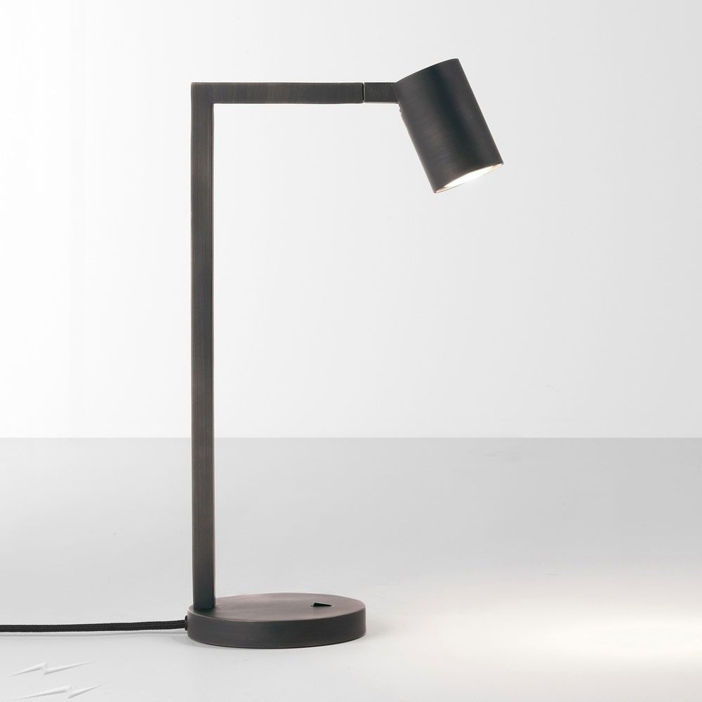 Ascoli Bronze Desk Lamp using GU10 LED Lamp, Switched Table