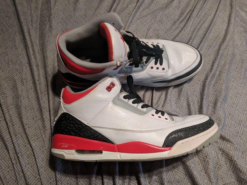 Nike Air Jordan 3 Fire Red Sneaker Men
