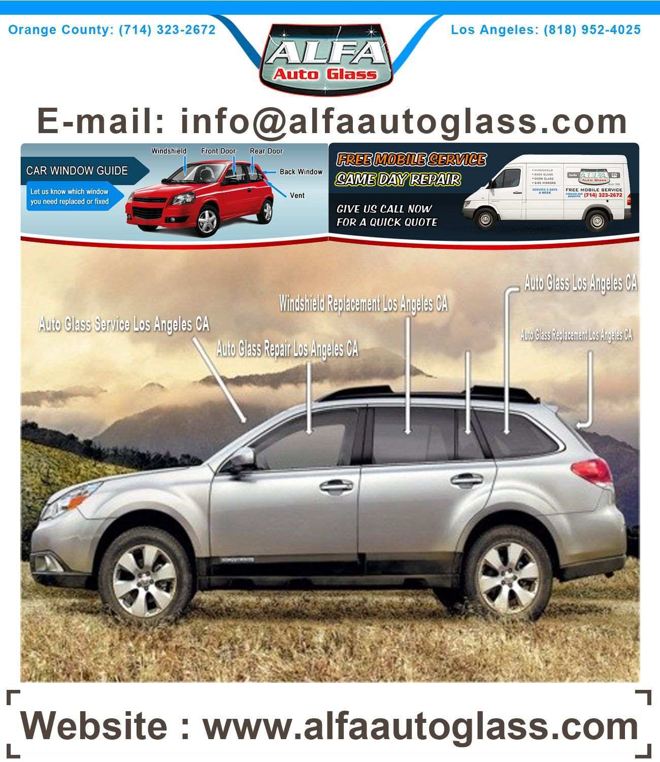 Windshield Replacement Quote New Alfa Auto Glass Is Orange County's Company Of Choice When You Need .