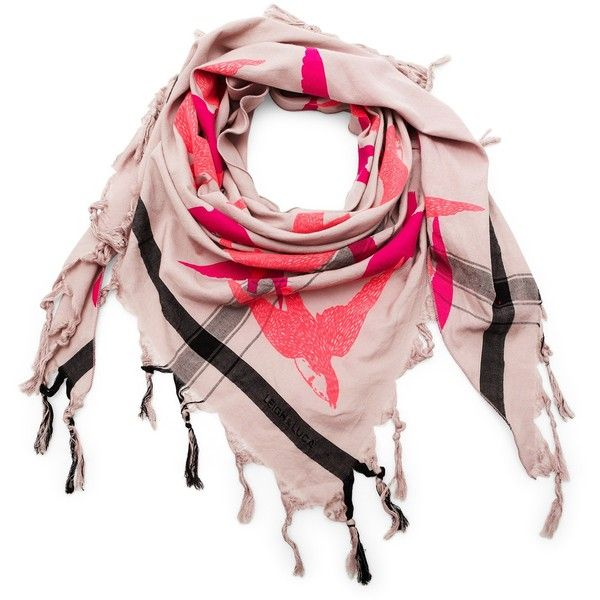Leigh and Luca Bird printed triangle scarf ($125) ❤ liked on Polyvore