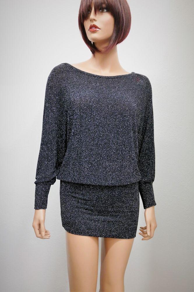 Damen Party Kleid schwarz Glitzer mini 36 #fashion #style #love #art ...