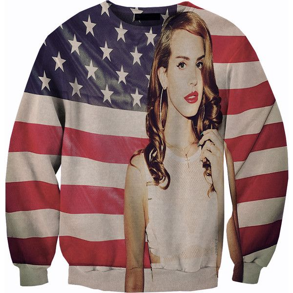 American Flag Lana Del Rey Sweater 60 Liked On Polyvore