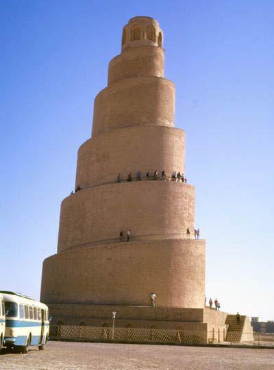 Samara Spiralovity Minaret Irak Mosque Grand Mosque Mosque Architecture