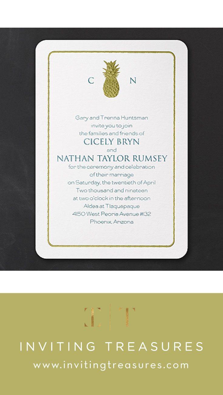 Wedding Invitations   Classic Gold Destination wedding invitations ...