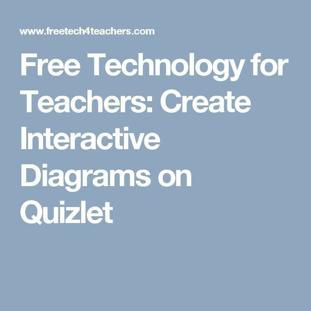 Create Interactive Diagrams on Quizlet | Science | Teaching