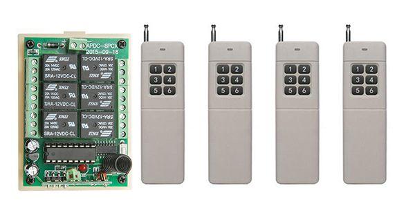 DC12V 6CH 10A RF Wireless Remote Control Relay Switch light