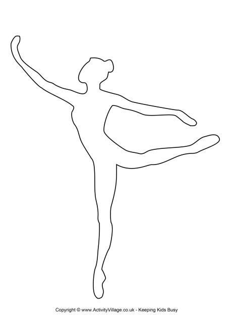 ballerina template 1 art. Black Bedroom Furniture Sets. Home Design Ideas