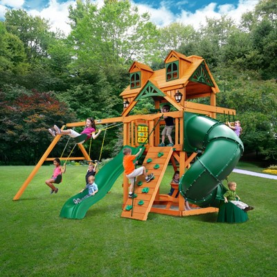 Gorilla Playsets Malibu Extreme Swing Set With Amber