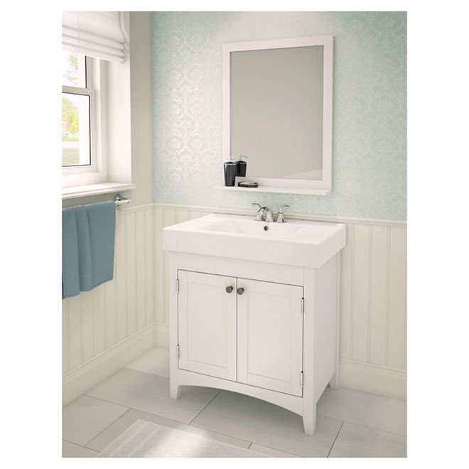 Bathroom Vanity Doors bathroom sink vanity with reversible doors - white - but how to