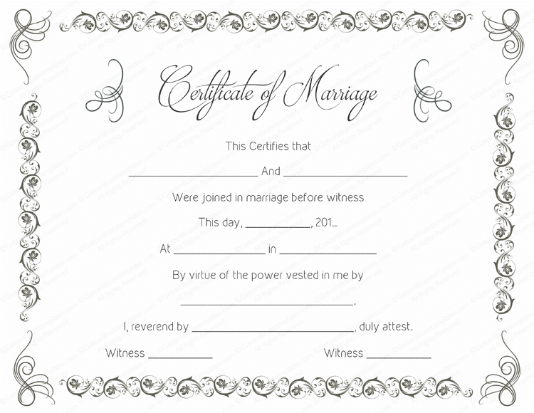 AUBREY Modern Chic Marriage Certificate Template INSTANT DOWNLOAD 2 sizes Minimalist Editable Printable Marriage Certificate Templett