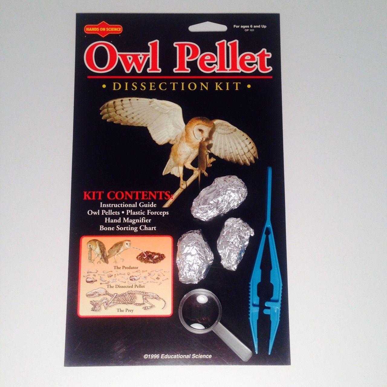 Owl Pellet 3 Pellets Sterile