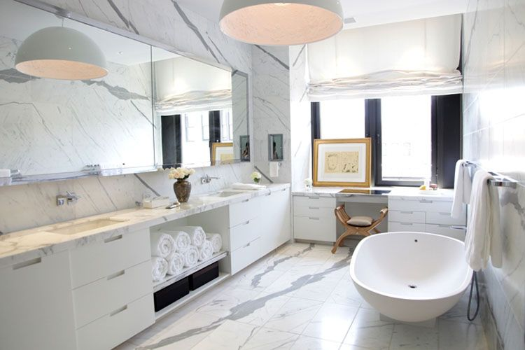 30 Marble Bathroom Design Ideas 29 styling bathrooms Pinterest