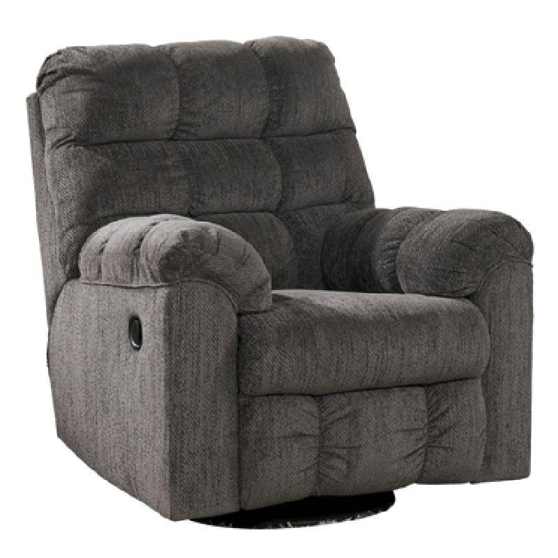 Acieona gray swivel rocker recliner recliner ashley