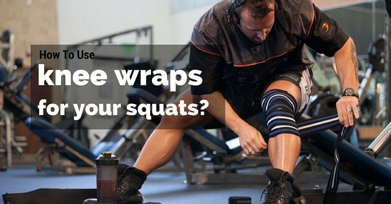 How to use knee wraps for your squats infographic