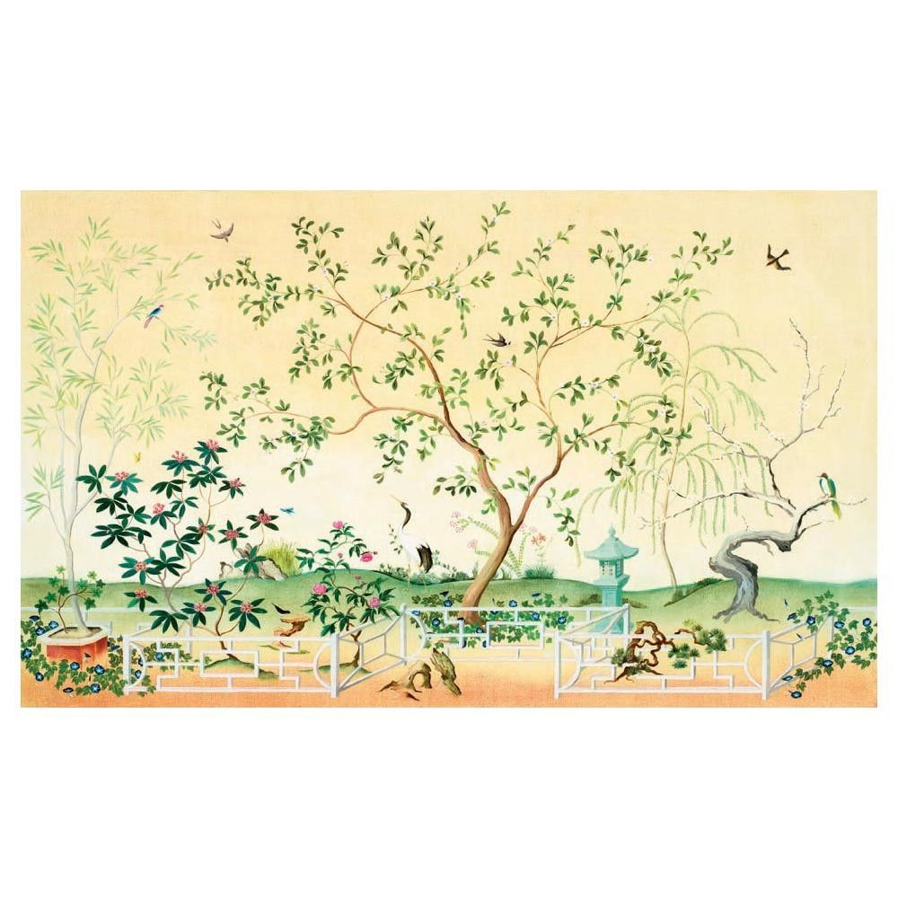 Living room - York Wallcovering Mural Portfolio II Asian Garden ...