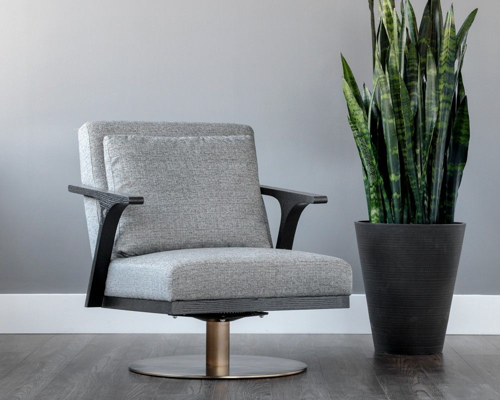 Best Alisa Swivel Chair Unique Modern Armchair With Grey 400 x 300
