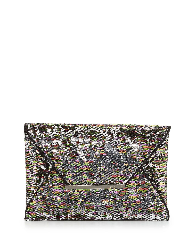 4109e5423b BCBGMAXAZRIA Harlow Signature Sequin Envelope Clutch Bag