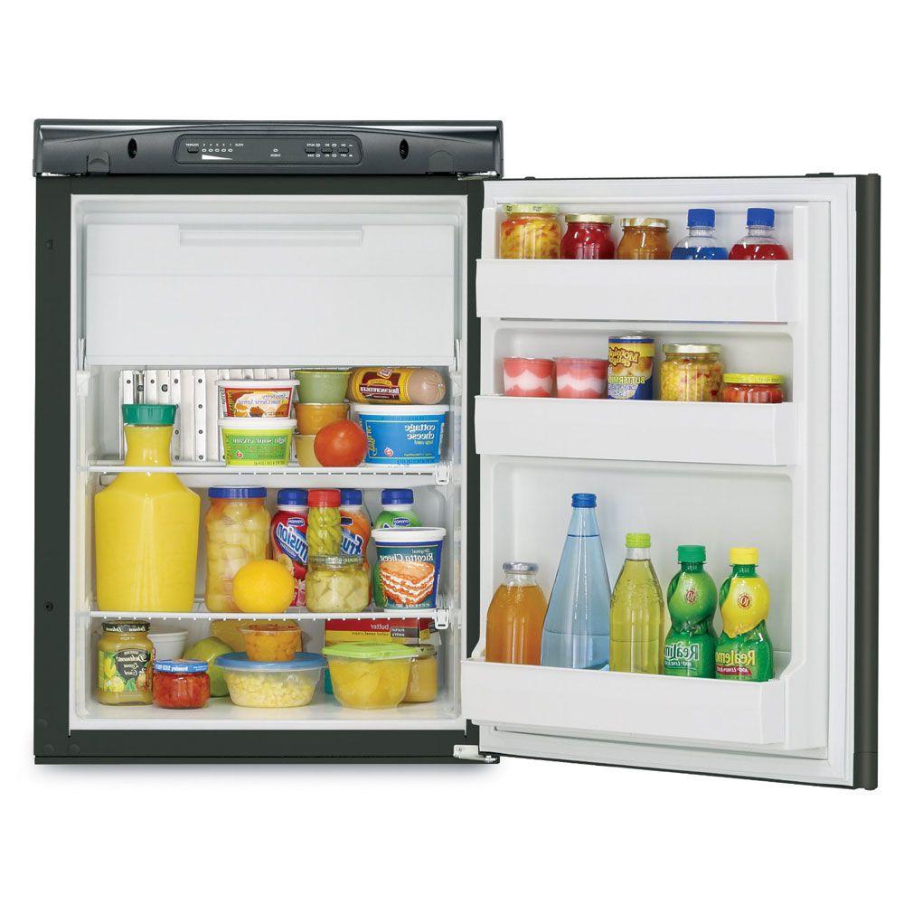 Dometic Americana Rm2354rbf Small Rv Gas Absorption Refrigerator Lp 120v 12v 3 C F Refrigerator Freezer Rv Refrigerator Black Refrigerator