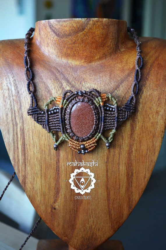 Hey, I found this really awesome Etsy listing at https://www.etsy.com/listing/189462284/macrame-necklace-with-brown-goldstone