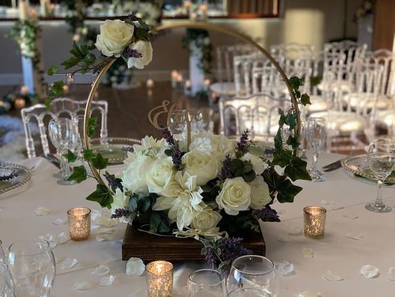 Hoop Centre piece. ideal for DIY brides, florists