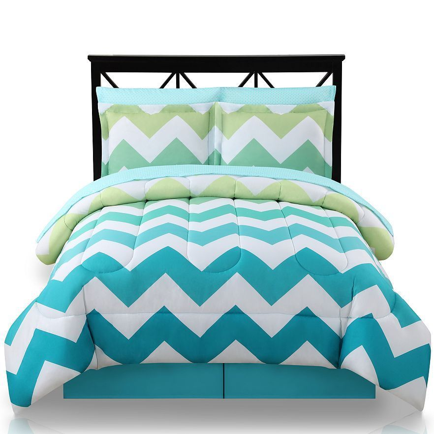 New The Big One Ombre Chevron Bed Set Comforter Sheets