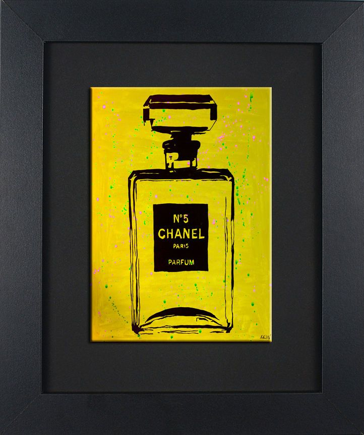 FRAMED Chanel Yellow Urban Chic 8x10 in Black Frame Art Decor by ...