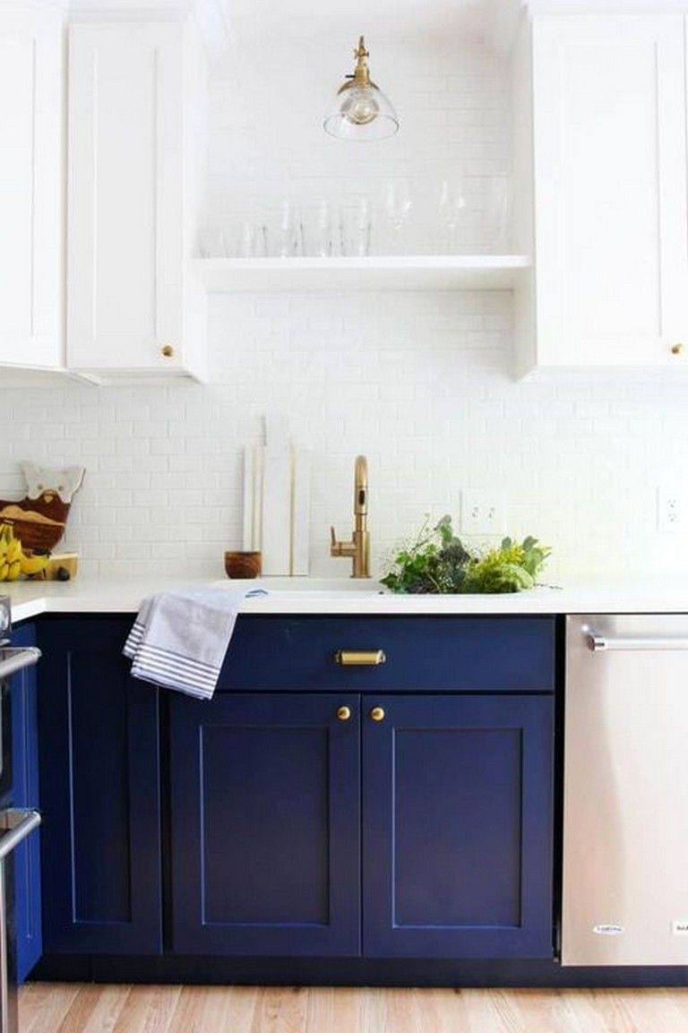 40 Beautiful Navy Kitchen Cabinets For Decorating Your Kitchen Page 25 Of 41 Cottage Kitchen Cabinets Navy Kitchen Kitchen Cabinets