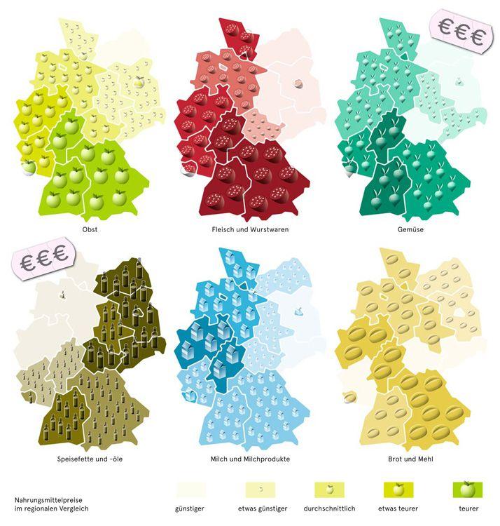 Deutschlandkarte Der Preis Des Essens Deutschlandkarte Karte