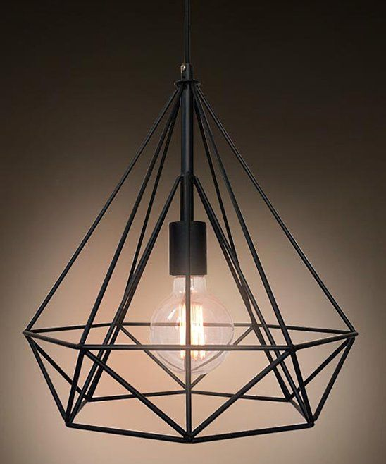 Wrought Iron Diamond Hanging Lamp Cage Pendant Light Pendant Ceiling Lamp Pendant Light