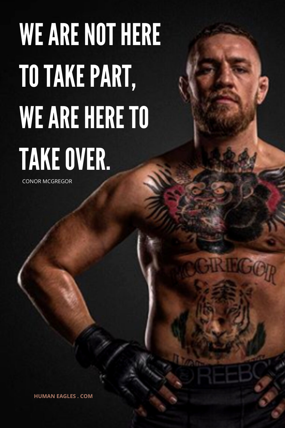 We Are Not Here To Take Part We Are Here To Take Over In 2020 Life Lesson Quotes Wise Quotes Conor Mcgregor Quotes
