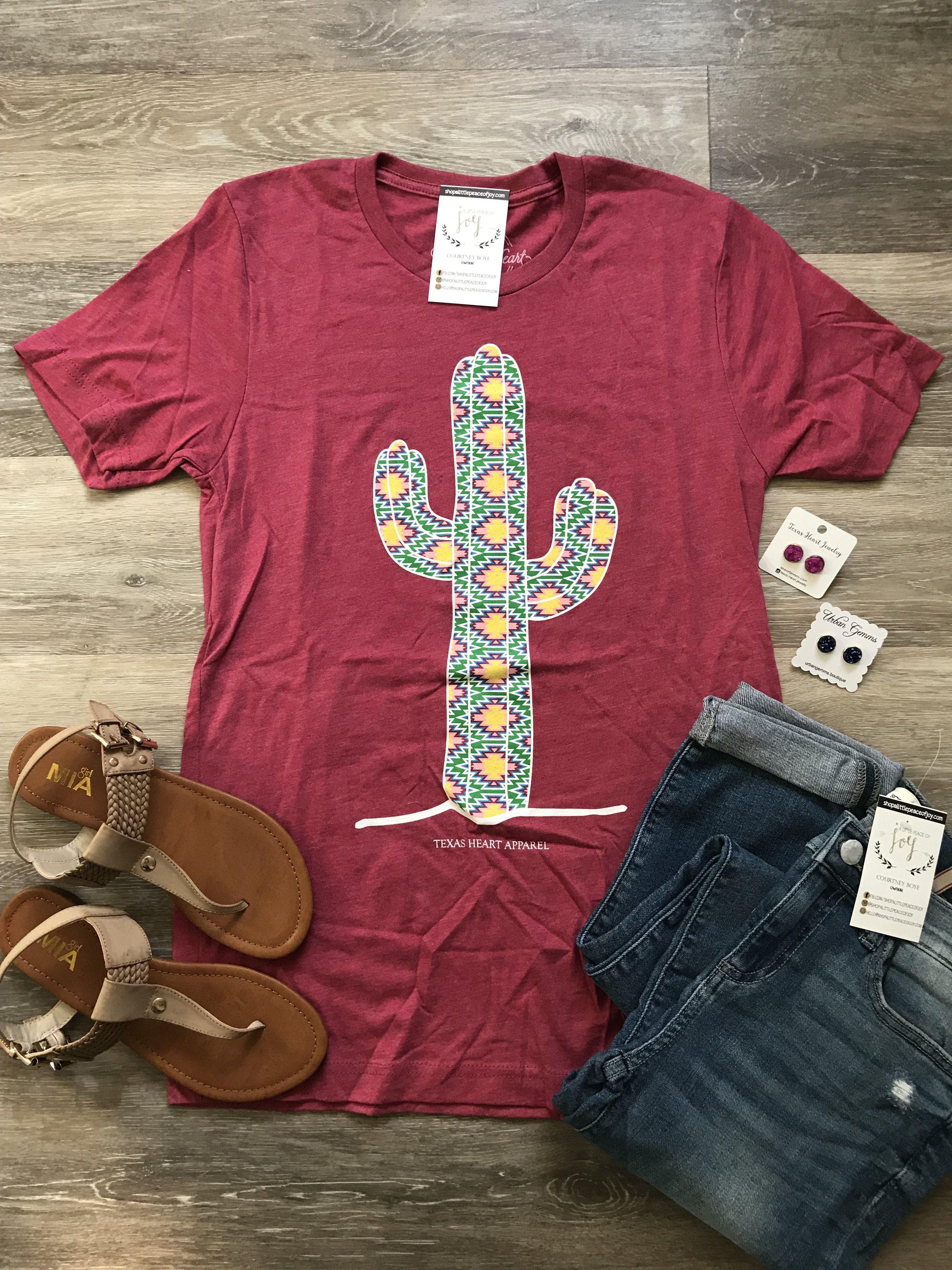 4e7199d17 Aztec Cactus Tee - Pink   New Arrivals